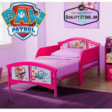Delta Children Plastic Toddler Bed Paw Patrol Skye u0026 Everest BB86959PW