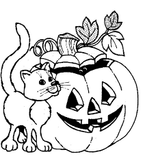 Small Picture Jack o lantern coloring pages with cat ColoringStar