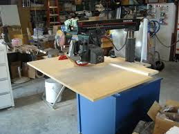 ridgid radial arm saw. the table, so one thing i did when made a new top for my ras was extend length to left side give me more support on that side. ridgid radial arm saw