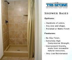full size of best shower base options glass block and pan construction cast stone bases