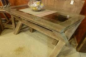 farmhouse glass top desk