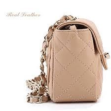 Cross body bag for women small chain strap bags cute handbags ... & Cross body bag for women small chain strap bags cute handbags shoulder quilted  purse (Apricot Adamdwight.com