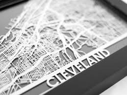 cleveland stainless steel map 5 x7 cool cut  on cleveland metal wall art with metal wall art cleveland city map cut map gift cut maps