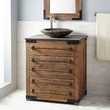 Wood Vanity Bathroom 30 Bonner Reclaimed Wood Vessel Sink Vanity Pine Vessel Sink