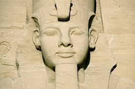 photo essay  egypt statue head on abu simbel temple