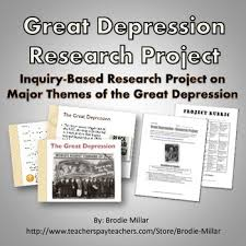 great depression research project project rubric powerpoint