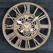 outside in newby mechanical wall clock