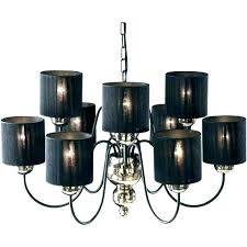 black chandelier shades black and gold lamps