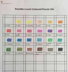 Staedtler Colored Pencils 48 Color Chart Color Chart For Staedtler Luna Coloured Pencils The