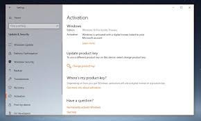 Windows 10 Version 1809 Resets Activation Product Key Not Working
