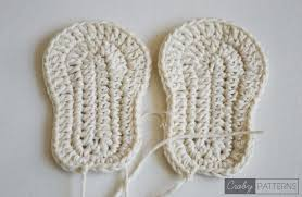 Crochet Baby Booties Pattern 3 6 Months Inspiration Crochet Soles In Different Sizes Baby Sizes 4848 4848 4848 Months