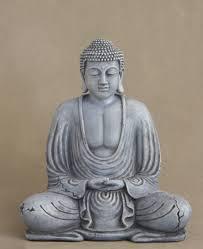 garden buddha statues. Weathered Garden Buddha Statue, Antique Stone Finish Statues S