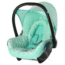 replacement seat cover fits maxi cosi cabriofix 0 full set cotton mint chevron 1 of 2only 3 available
