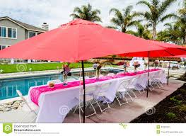 For Outdoor Decorations Baby Shower Table And Outdoor Decorations Stock Photo Image
