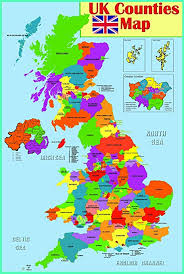 English County Flags Chart Laminated Educational Wall Poster Uk Counties Map Gb Great Britain Counties Poster