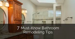 Home Bathroom Remodeling Fascinating 48 MustKnow Bathroom Remodeling Tips Home Remodeling Contractors