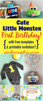 Lil Monster Birthday Invitations Cute Little Monster First Birthday With Free Templates And