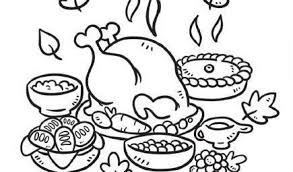 Small Picture Download Thanksgiving Dinner Coloring Pages Ziho Coloring