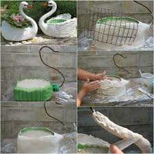 Diy Planters Diy Swan Planter Idea Great Idea I Dont Know How Mine Will Turn