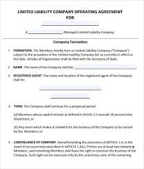 template for llc operating agreement operating agreement template free llc operating agreement template