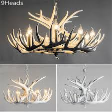 rustic modern large white deer antler chandeliers lighting lamp with tree branches for dining room restaurant