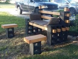 cinderblock furniture. Modren Furniture Attractive Best Brilliant Cinder Block Furniture Backyard 17 Ideas  About Bench On Pinterest Inside Cinderblock