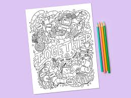It develops fine motor skills, thinking, and fantasy. Stay Home Color A Collection Of Free Coloring Pages To Help You Relax Dribbble Design Blog