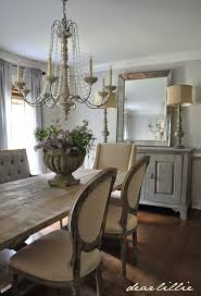french country decor home. 19. Dining Room With Plush Chairs And Credenza French Country Decor Home T