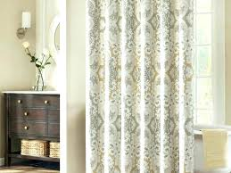 grey and green curtains interior brown fl pattern white with chrome pole on wall beautiful lime