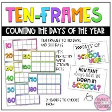 Ten Frames Counting Chart Days Of The School Year