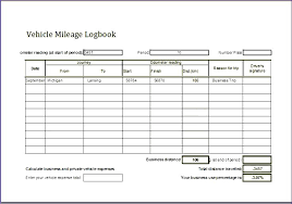Printable Mileage Log Templates Free Template Lab Vehicle For