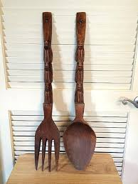 big spoon and fork wall decor wall decor where to wooden fork and spoon giant large wood fork and spoon wall decor