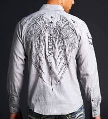 Affliction Womens Size Chart Is Archaic Made By Affliction Affliction Duster Button Down