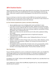 Apa Citation Basics Note Typography Citation