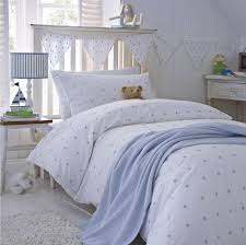 blue stars cotton bedding by the fine cotton company