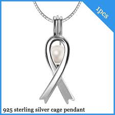 925 silver silk scarf cage pendant with 6 7mm akoya pearl
