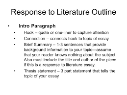 response to literature essay response to literature l purpose  4 response