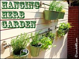Herb Kitchen Garden Kit Picturesque Hanging Herb Garden Burlap Herbgardenfront Diy