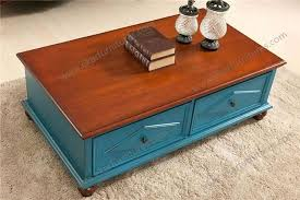 two drawer coffee table blue color vintage coffee table with two drawers 4 drawer oak coffee