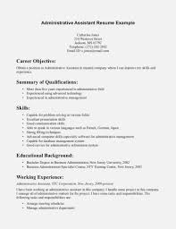 Resume Templates Business Administration Resume Objective The