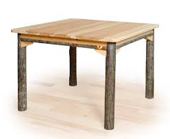 rustic square dining table. Square Hickory Dining Table Rustic S