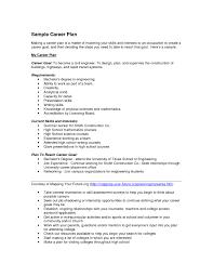 How To Write A Career Plan Template The Hakkinen