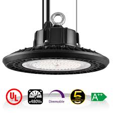 480v Lighting 100w 347v 480v Dimmable Industrial Ufo Led High Bay Low Bay Lighting 400w Mh Hps Hid Lamp Equiv 14 000lm Light Ip65 Waterproof Cul Dlc Listed