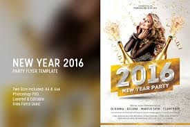 New Year 2016 Party Flyer Template By Affant On Deviantart