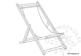 chair clipart black and white. island clip art black and white | clipart panda free images deckchair coloring page chair