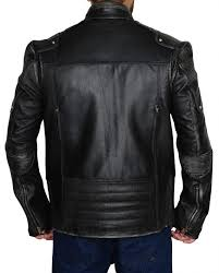 vintage black cafe racer leather jacket