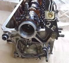 Toyota 2E (Carburetor engine) 12V, OHC OEM complete cylinder head ...
