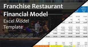 Financial Model Excel Spreadsheet Franchise Restaurant Excel Financial Model Template
