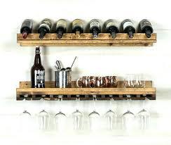 custom made hanging wine glass rack professional design metal wall holder mounted bottle
