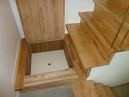 stair landing storage by Lanefab Design/Build